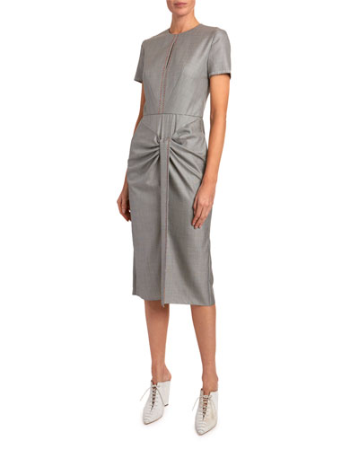 Checked Tie-Waist Dress