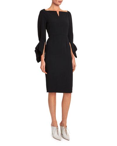 Rosslare Long-Sleeve Button-Waist Dress