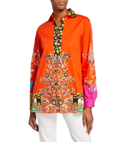 Collage Patchwork Poplin Tunic