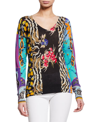 Stamp Croce Patchwork Floral Sweater