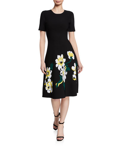 Magnolia Short-Sleeve Knit Dress