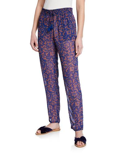 Alexa Printed Semisheer Pants