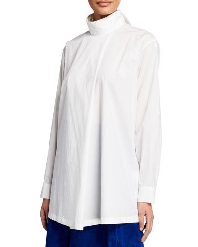 Long-Sleeve Oversized Shirt