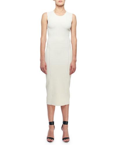 Sleeveless Open-Knit Midi Dress