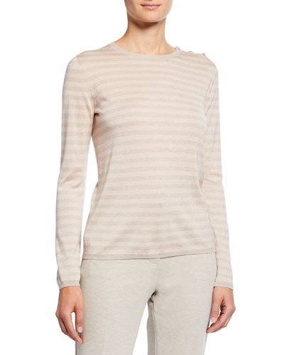 Silk-Cashmere Berma Knit Sweater