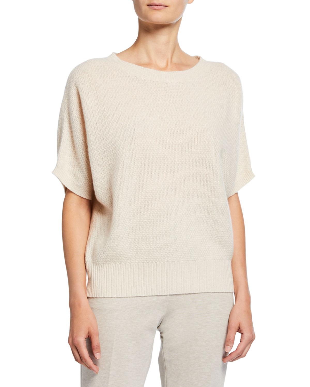 Max Mara Sweaters DALILA CASHMERE FLUTTER-SLEEVE SWEATER