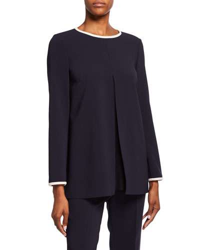 Contrast-Tipped Cady Tunic