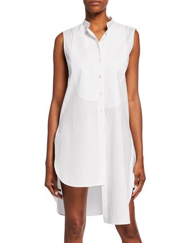 Asymmetric Bib Sleeveless Shirt