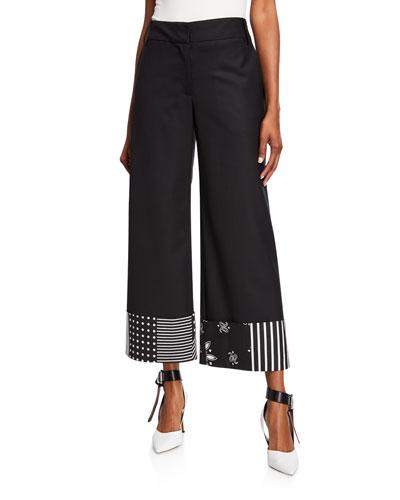 Bandana-Print Cuff Trousers
