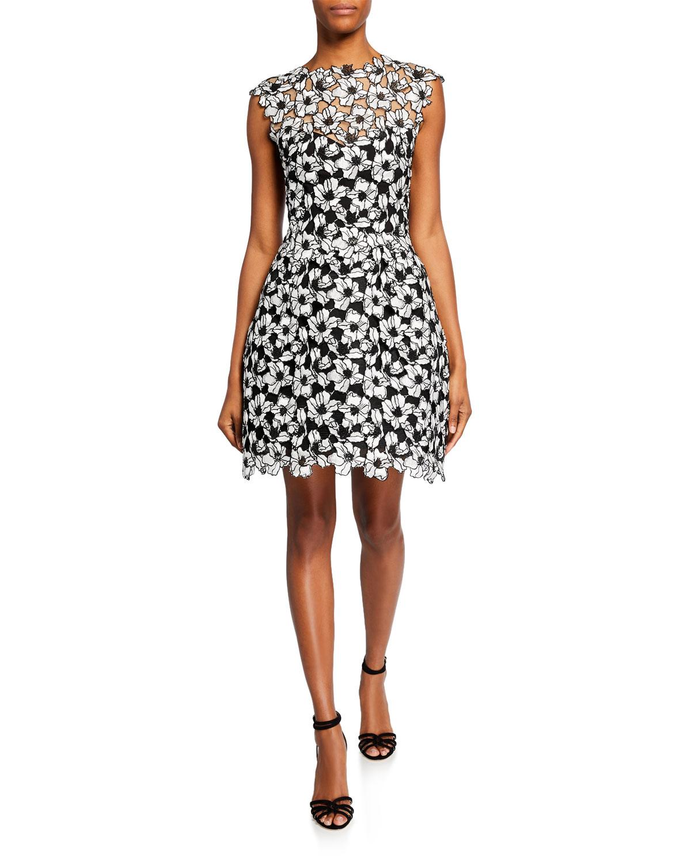 Monique Lhuillier Dresses GUIPURE LACE COCKTAIL DRESS