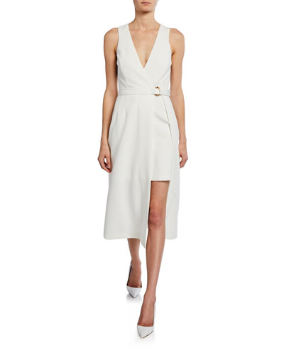 Sleeveless Layered Wrap Dress