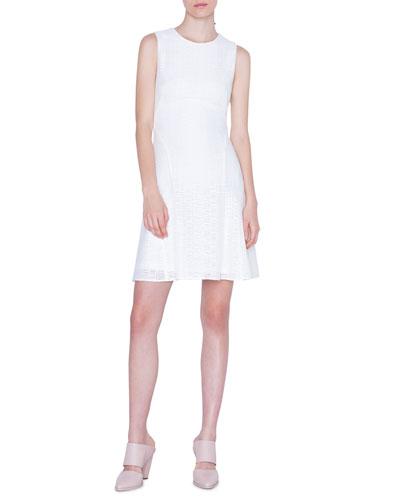 Lightweight Grid-Lace Dress