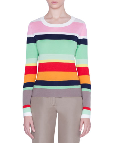 Striped Wool Boxy Sweater