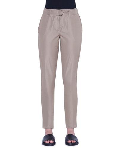 Fallon Chino-Style Cotton Ankle Pants