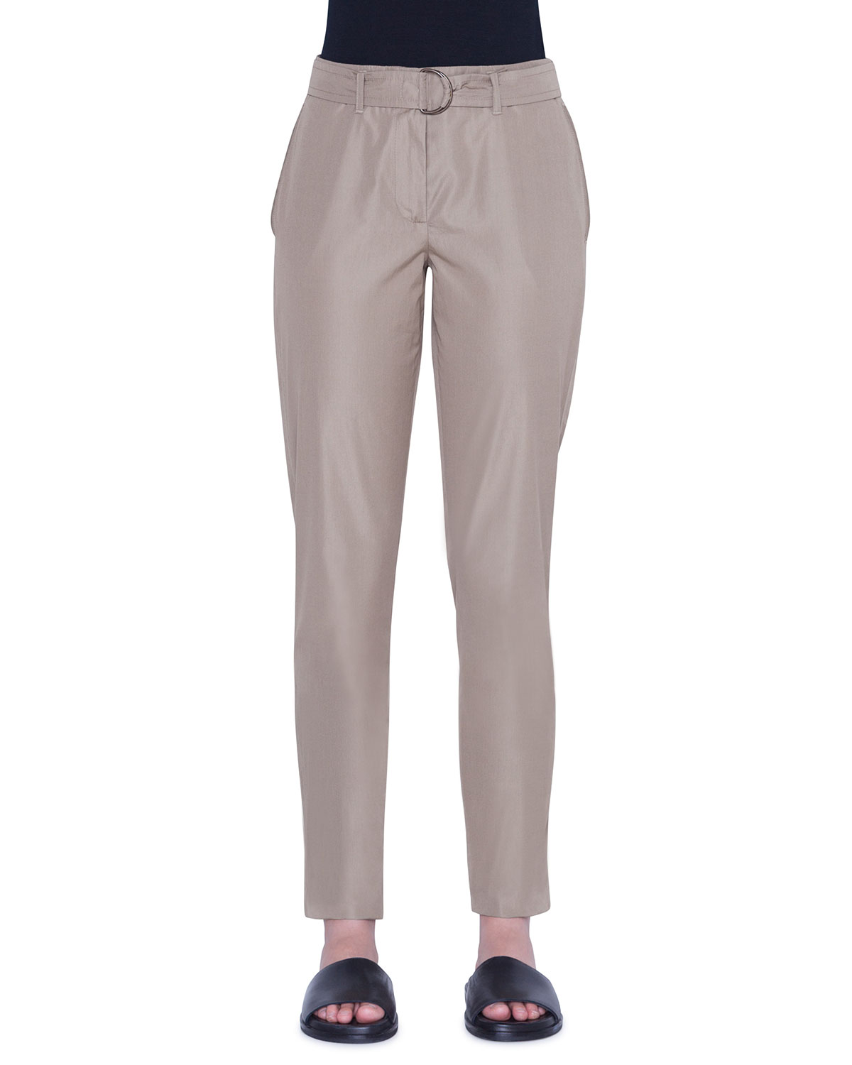 Akris Punto Pants FALLON CHINO-STYLE COTTON ANKLE PANTS
