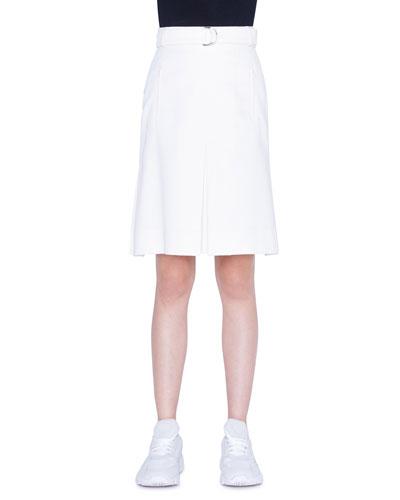 Gabardine Cotton A-Line Skirt
