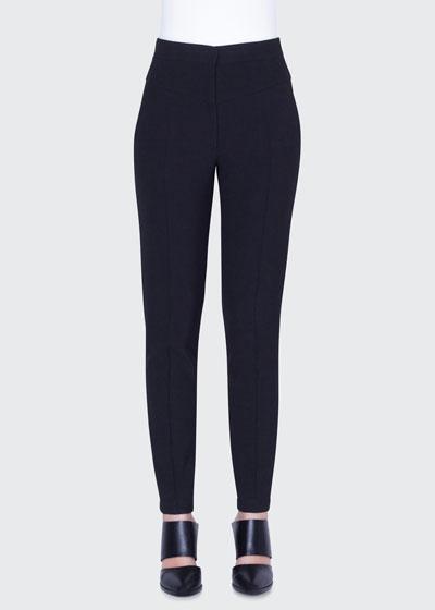 Freya Pebbled Crepe High-Rise Pants