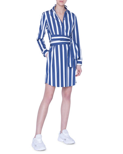 Striped Linen Tunic Shirtdress