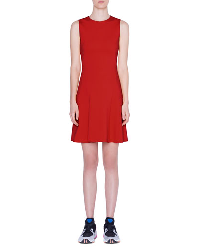 Sleeveless Jersey A-Line Dress