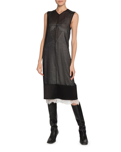 Sheer Polyester Dress Bergdorfgoodman Com