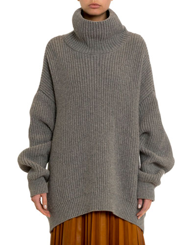 Oversized Chunky Turtleneck Sweater