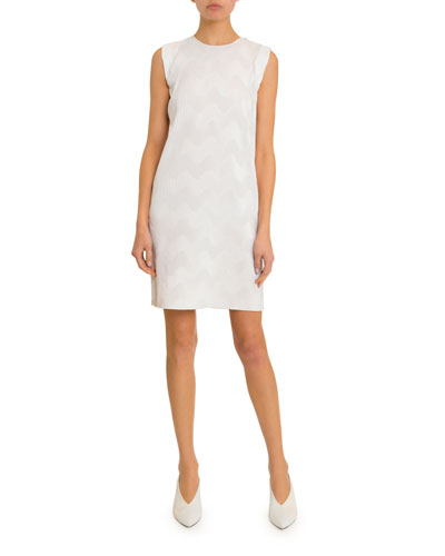 Sleeveless Zigzag Plisse Dress