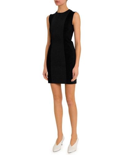Punto Milano Colorblocked Sleeveless Dress