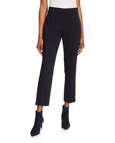 Guglia Cropped Cady Pants, Blue