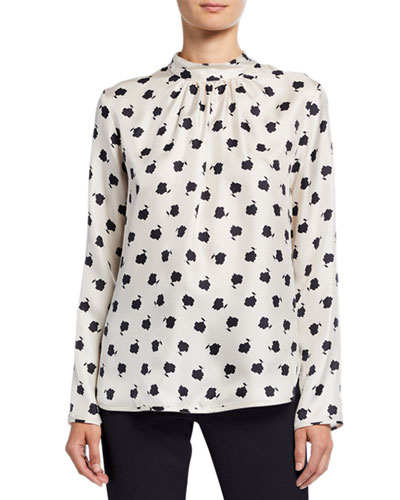 Distel Flower Print Long-Sleeve Top