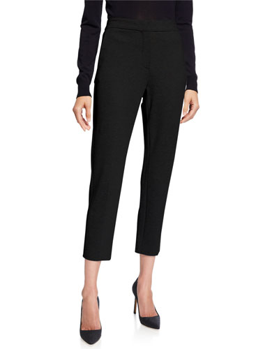 Jersey Straight-Leg Ankle Pants