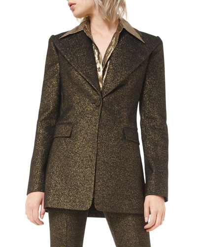 Metallic Wool Blazer
