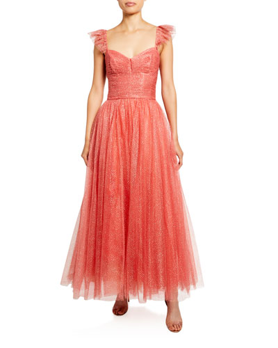 Glitter Tulle Cocktail Dress