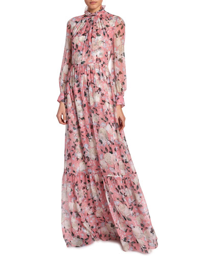 Clementine Floral-Print Gown