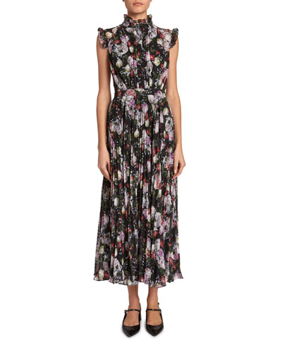 Roisin Floral Sleeveless Midi Dress