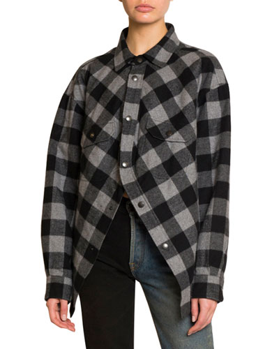 Checked Flannel Swing Top