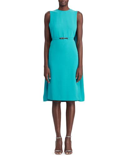 Aviana Belted Cape Dress
