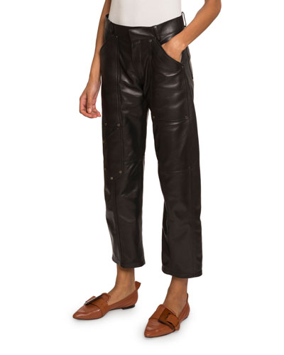 Leather Cropped Pants