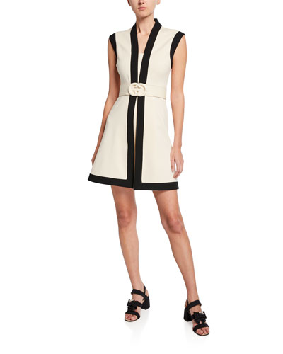 5a0b58a163 Belted Sleeveless Shift Dress Quick Look. Gucci