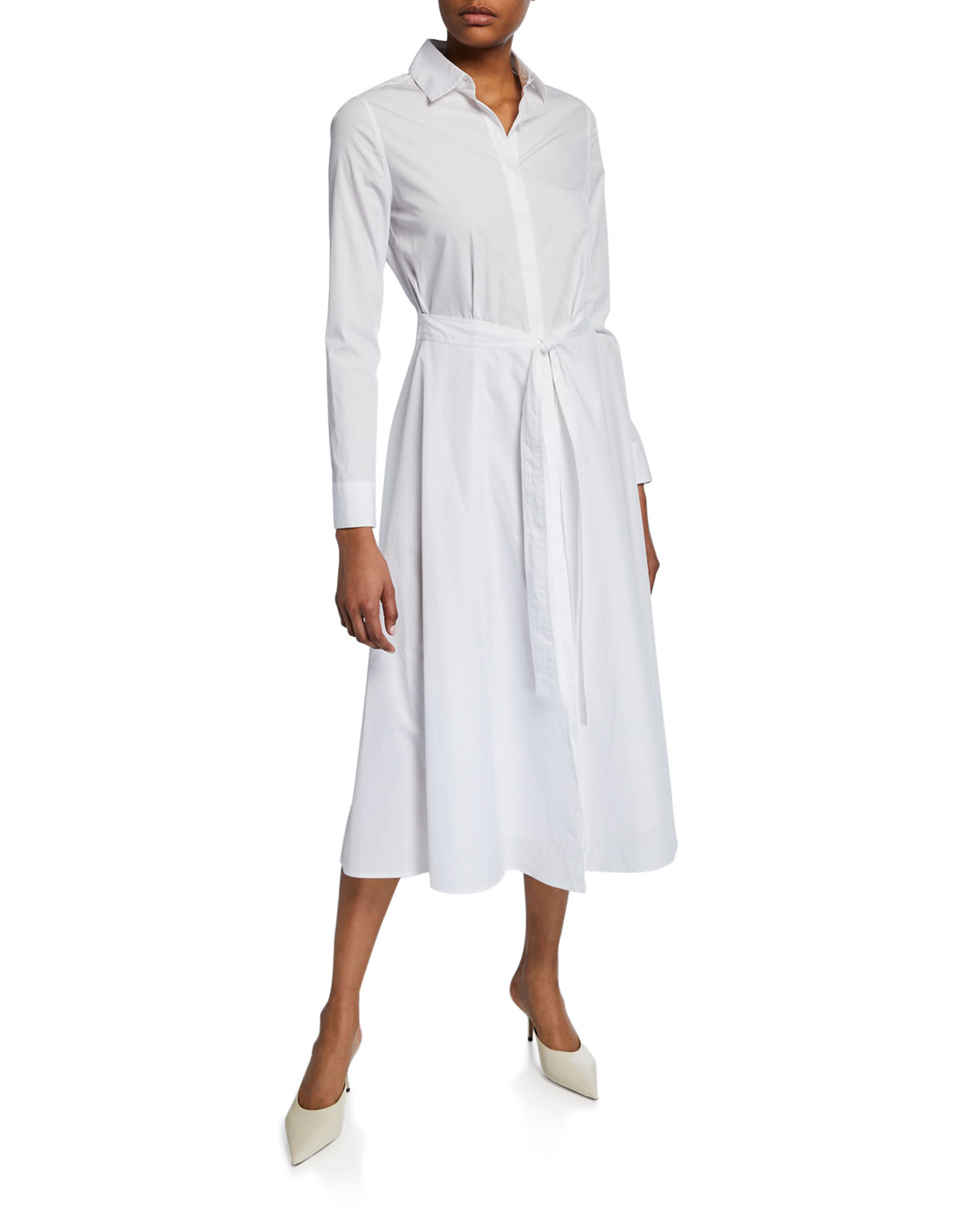 Rosetta Getty Cottons WRAPPED APRON SHIRTDRESS