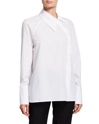 Asymmetric Button-Front Shirt