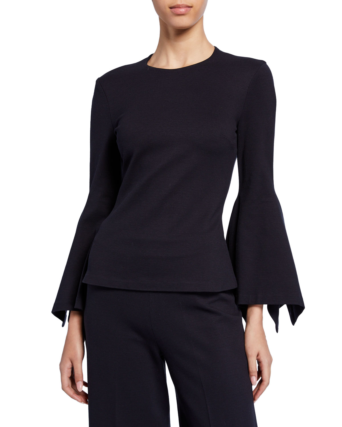 Rosetta Getty Tops SCARF-SLEEVE JERSEY TOP