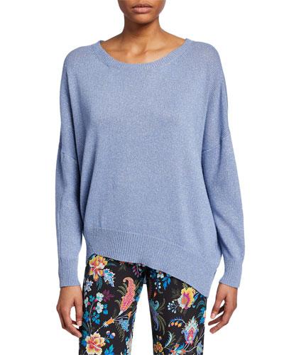 Wool-Cashmere Asymmetric Sweater