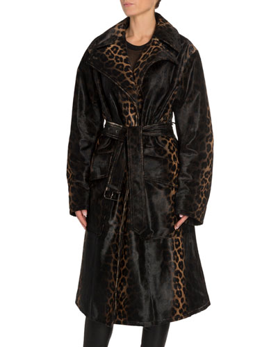 Handpainted Degrade Leopard Print Coat