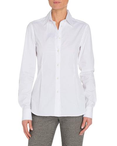 Cotton Button-Front Blouse