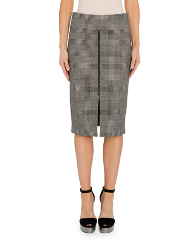 Prince of Wales Pencil Skirt