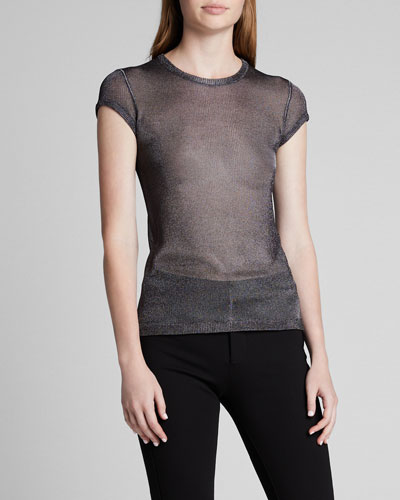 Short-Sleeve Shimmer Jersey T-Shirt