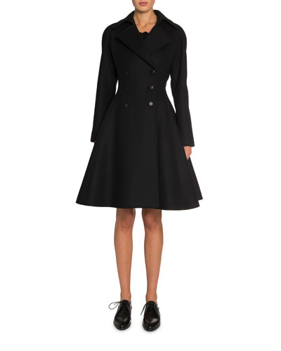 Double-Breasted Wool Princess Coat