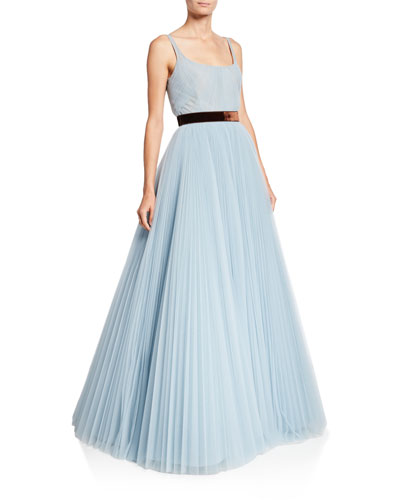 Sleeveless Tulle Ball Gown