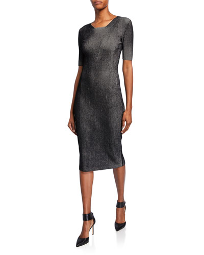 908067e3841 Ribbed Compact Knit Dress Quick Look. Narciso Rodriguez