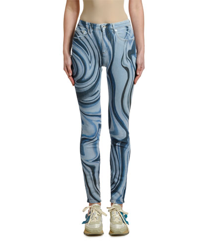 Psychedelic Skinny Jeans